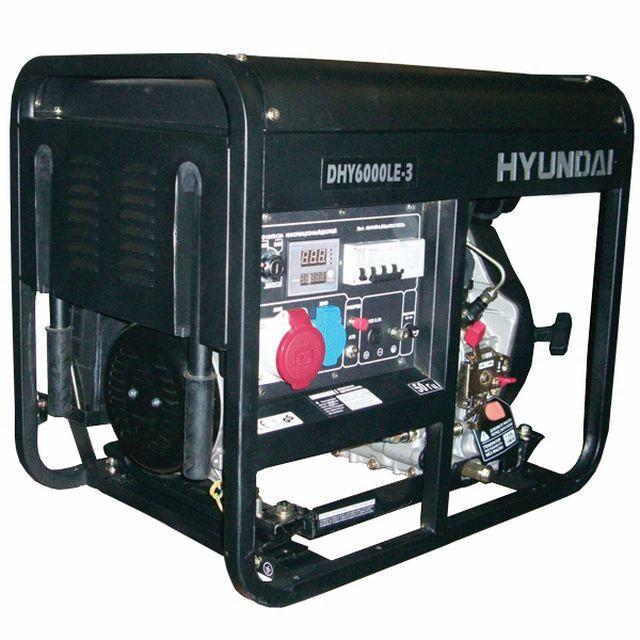 Трехфазный дизельный генератор HYUNDAI Professional DHY 6000LE3 6,3 (6,9) кВт