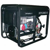 Трехфазный дизельный генератор HYUNDAI Professional DHY 6000LE3 6,3 (6,9) кВт, фото 1