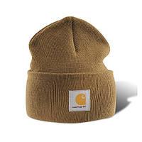 Шапка - Carhartt  - Classic A18 Beanie Hat Brown (Зимняя\Зимова шапка)