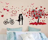 Интерьерная наклейка на стену Любовь