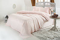 Gelin home КПБ + покрывало ESMA  евро персиковый