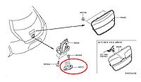 Nissan Leaf Скоба замка дверки багажника