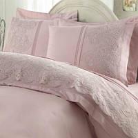 Gelin home КПБ + покрывало ELMAS евро темно-розовый