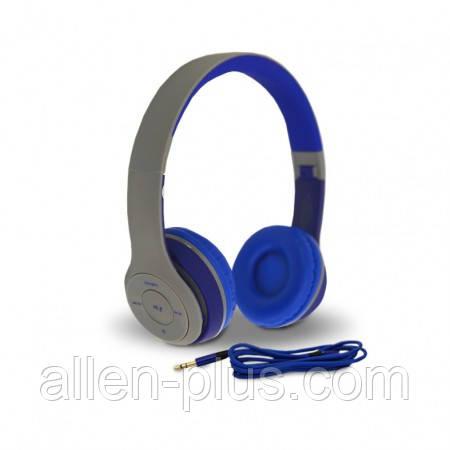 Наушники беспроводные Bluetooth HAVIT H2575BT grey/blue