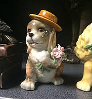 "Статуэтка фарфоровая Pavone ""Собака с букетом"" CMS-60/19, фото 1"