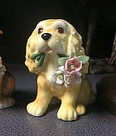 "Статуэтка фарфоровая Pavone ""Собака с букетом"" CMS-60/20, фото 1"