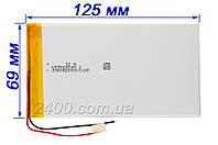 Аккумулятор для планшета (5000 мАч) - размер 3.5х69х125 мм 3,7в 5000mAh 3.7v универсальный 3569125, фото 1