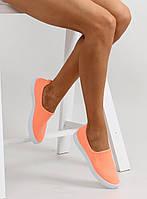 11-19 Оранжевые женские кроссовки-слипоны jx21p 38,39