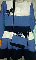 Нарядное детское платье Мальвина для девочек вязка Венгерский трикотаж Lili Kids 92-116