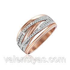 Серебряное кольцо с позолотой КК3Ф/250
