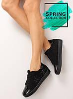 11-13 Черные женские кроссовки со со стразами t273p 36,37,38,39,40,41