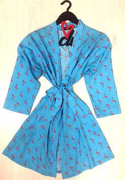 Одежда для дома, женский халат под пояс, на запах