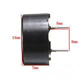 Зуммер пассивный 16 ом AC/2 КГц 3 В 5 В 12 В, фото 6