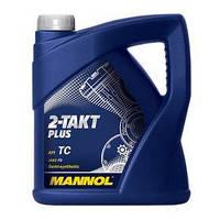 Моторное масло для двухтактных двигателей MANNOL 2-TAKT PLUS  4л.