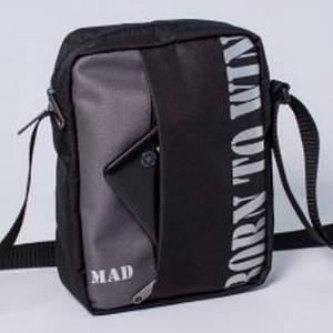 "Мессенджер ""NOMO"" серый  (сумка через плечо), фото 2"
