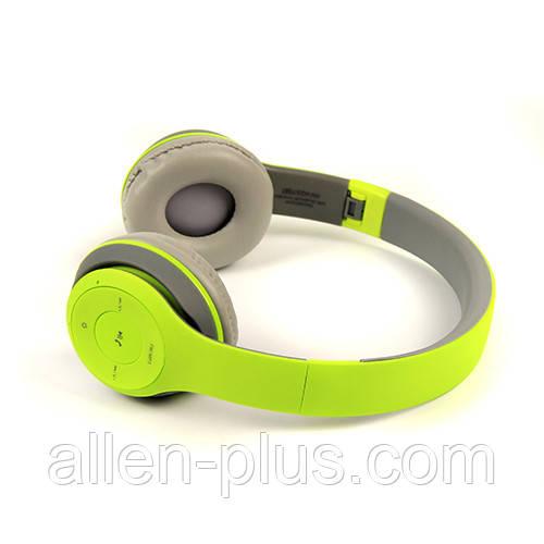 Наушники беспроводные Bluetooth HAVIT H2575BT grey/green