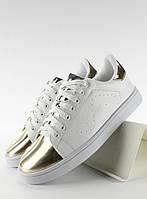 11-19 Золотисто-белые женские кроссовки с металлическими носками YP-01 40