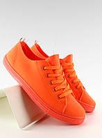 11-19 Оранжевые мягкие женские кеды  jx30 39,38