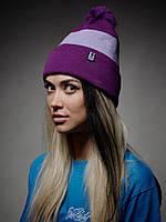 Шапка - Urbanplanet  - Pom Purple Line (Зимняя/Зимова шапка)