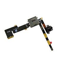 Шлейф для iPad 2, коннектора наушников, (версия 3G), Sim коннектора, черный