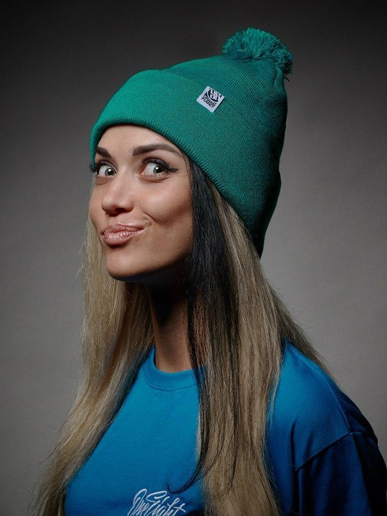 Шапка - Urbanplanet  - Pom Green (Зимняя/Зимова шапка)