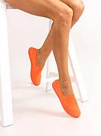11-19 Оранжевые стильные женские кеды женские слипоны jx31 40,39,38,37,36