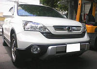 Накладка бампера передняя Honda CRV 2006-2009 ABS пластик под покраску