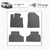 Комплект резиновых ковриков Stingray Premium для авто Kia Sorento UM 2015+ гг.