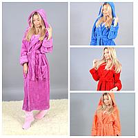 Женский длинный махровый халат Турция 9127 МВ