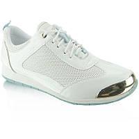 11-13 Белые женские кроссовки с побрякушкой Y621 36,37,38,39,41