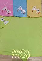 """Детское махровое полотенце для купания новорождённых"""" Жираф """" с капюшоном"""