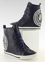11-19 Темно-синие женские кеды со штампом Y450 39