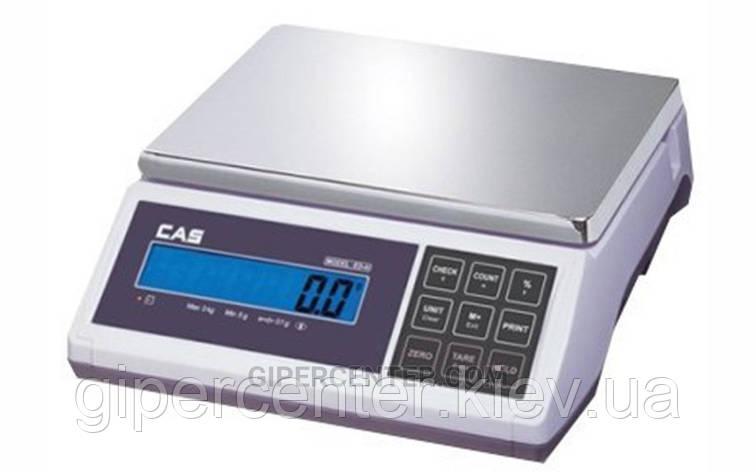 Весы фасовочные CAS ED-15 до 15 кг; дискретность 2/5 г, фото 2