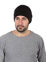 Шапка вязаная мужская черная