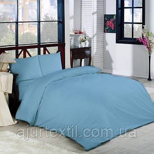 Постельный комплект Ранфорс синий