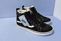 Мужские зимние  кроссовки Vans 1796-1 черные код 0820А