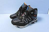 Высокие зимние кроссовки Bayota Fashion 9809-5 черно-оранжевые код 0806А