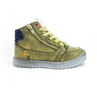 Демисезонные ботинки на мальчика цвета хаки