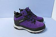 Высокие зимние кроссовки Supo 1795-7 фиолетовые код 0812А