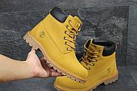 Мужские зимние ботинки Timberland рыжие 3415