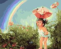 Картина по номерам BK-GX7052 Малышка в волшебном саду (40 х 50 см)