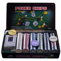 Покерный набор в металлической коробке 300T-X