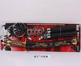 """Набор оружия """"Ниндзя"""" меч, нунчаки, сюрикены, в кор. 50*24*7см /120-2/"""