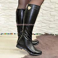 Стильные сапоги кожаные демисезонные. Хит продаж!, фото 1