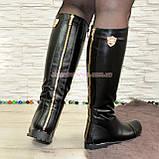 Стильные сапоги кожаные демисезонные. Хит продаж!, фото 2