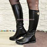 Стильные сапоги кожаные демисезонные. Хит продаж!, фото 3