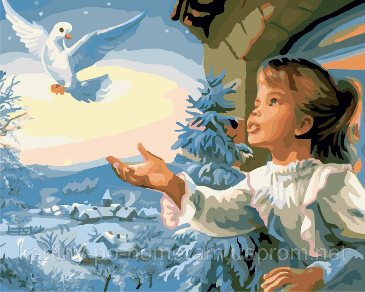 Картина по номерам BRM7056 Птица мира (40 х 50 см)
