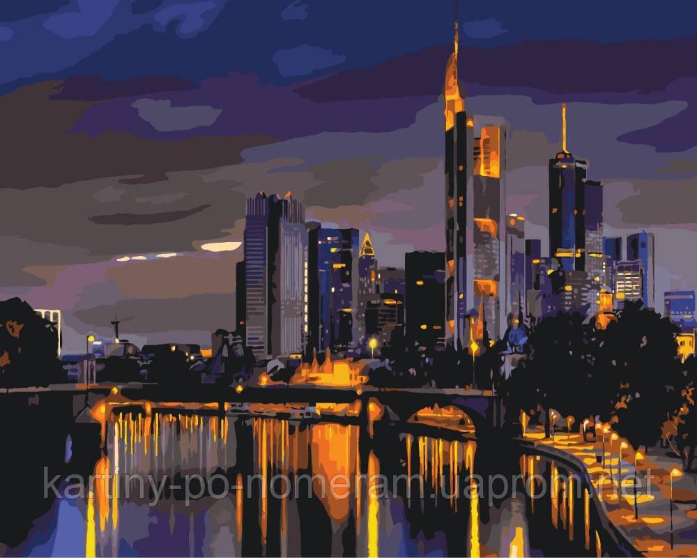 Картина по номерам KH2178 Огни ночного Гонконга (40 х 50 см)