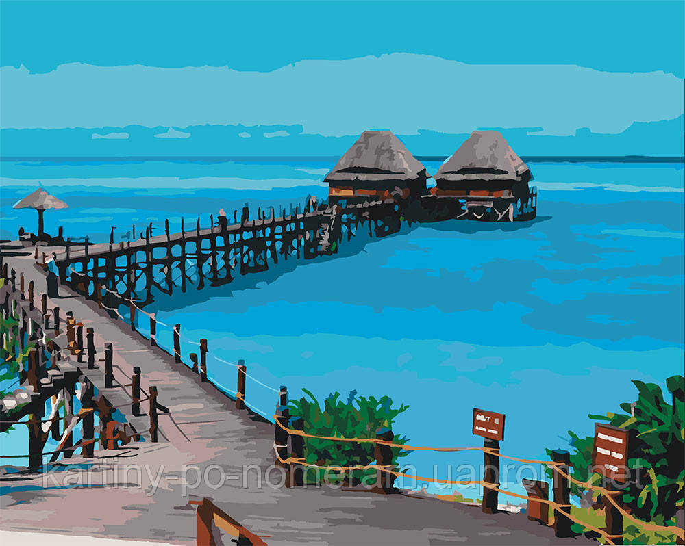 Картина по номерам KH2228 Пляж Танзании (40 х 50 см)