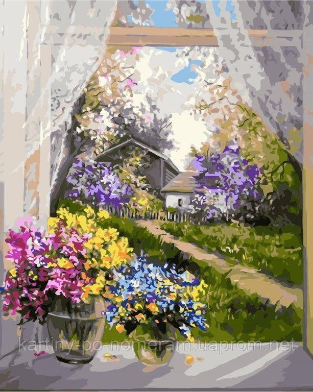 Картина по номерам KHO2231 Утро в деревне (40 х 50 см)